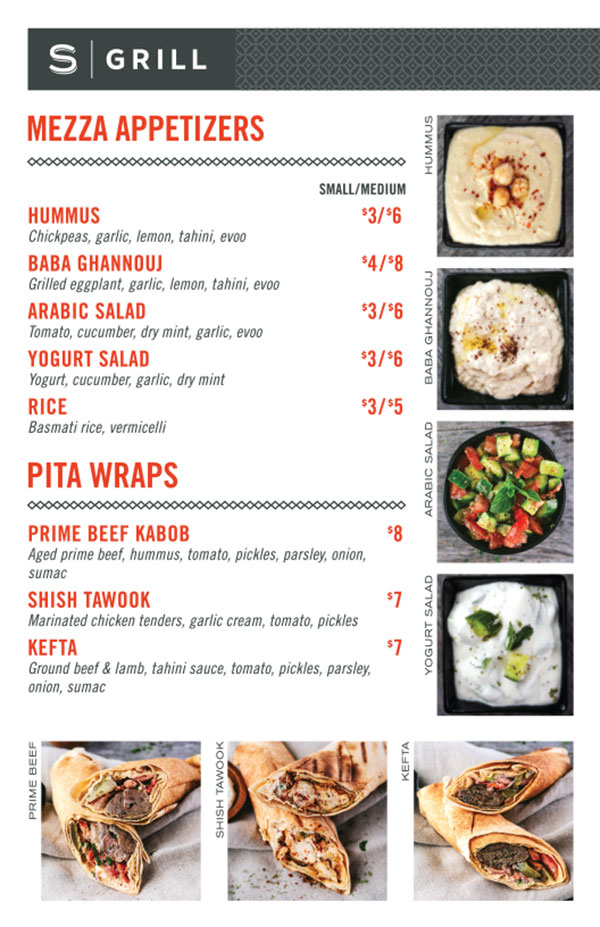 S | Grill menu